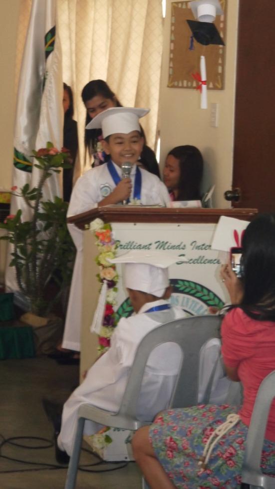 rajah delivering his speech